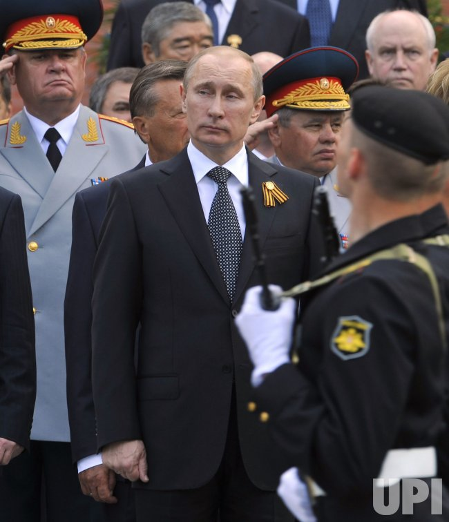 Russian President Putin attends a wreath laying ceremony in Moscow