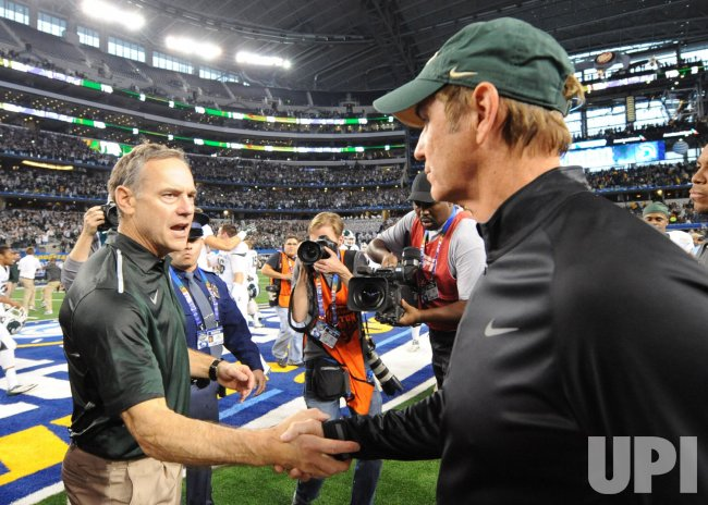 Michigan State Spartans vs. Baylor Bears in the Cotton Bowl in Texas