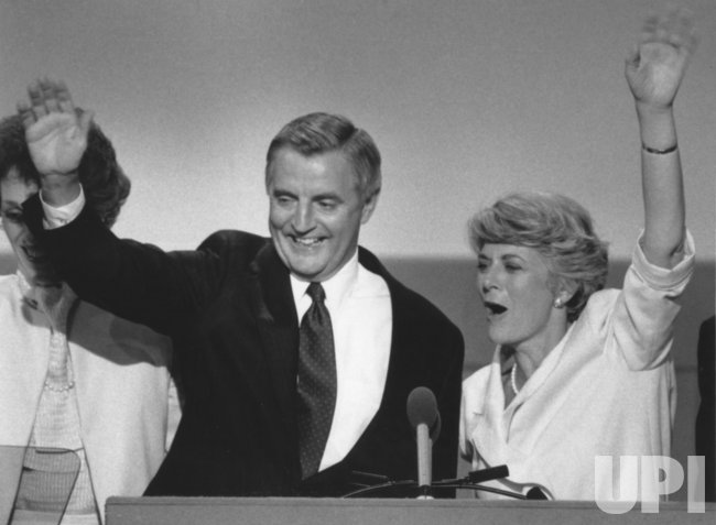 Walter Mondale and Geraldine Ferraro at 1984 Democratic Convention