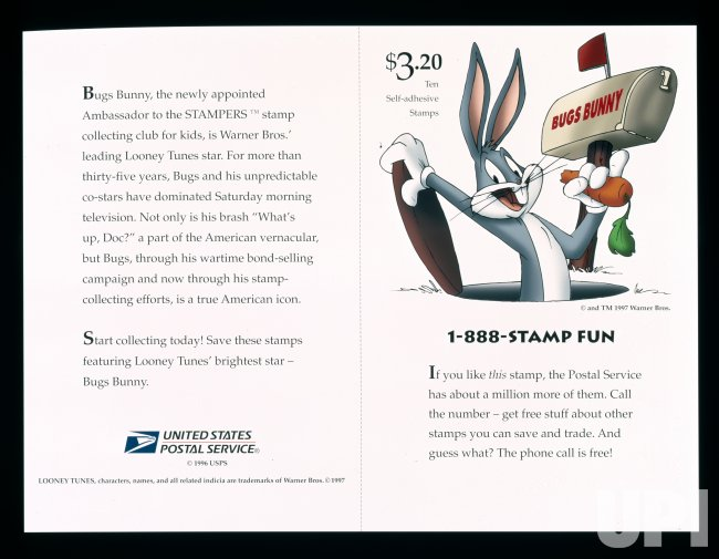 Bugs Bunny stamps from US Postal Service
