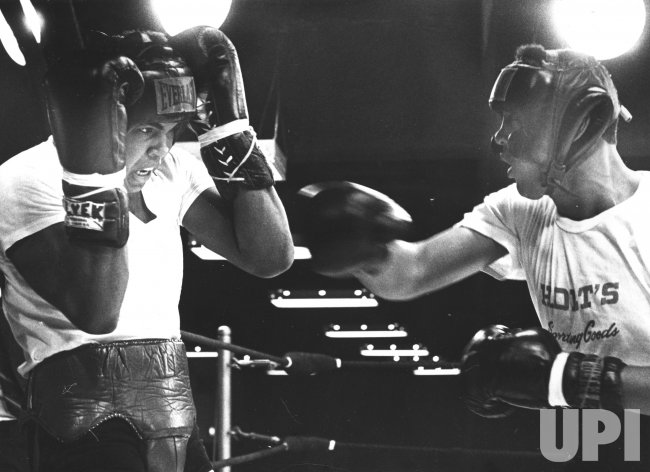 Muhammad Ali trains at Astrodome for Ernei Terrell fight