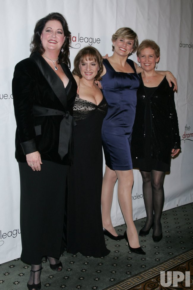Ann Hampton Calloway, Patti LuPone, Cady Huffman and Liz Calloway arrive for the Drama League Benefit Gala in New York