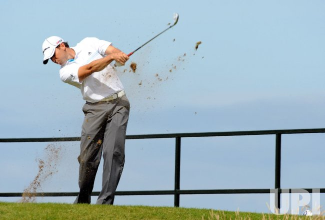 SEGIO GARCIA IN ACTION ON FIRST DAY OF 138TH OPEN CHAMPIONSHIP