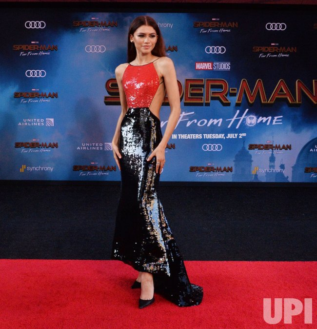 "Zendaya attends the ""Spider-Man: Far From Home"" premiere in Los Angeles"