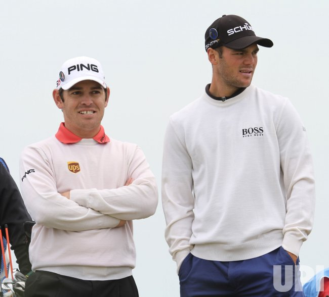 Louis Oosthuizen and Martin Kaymer during practice day.