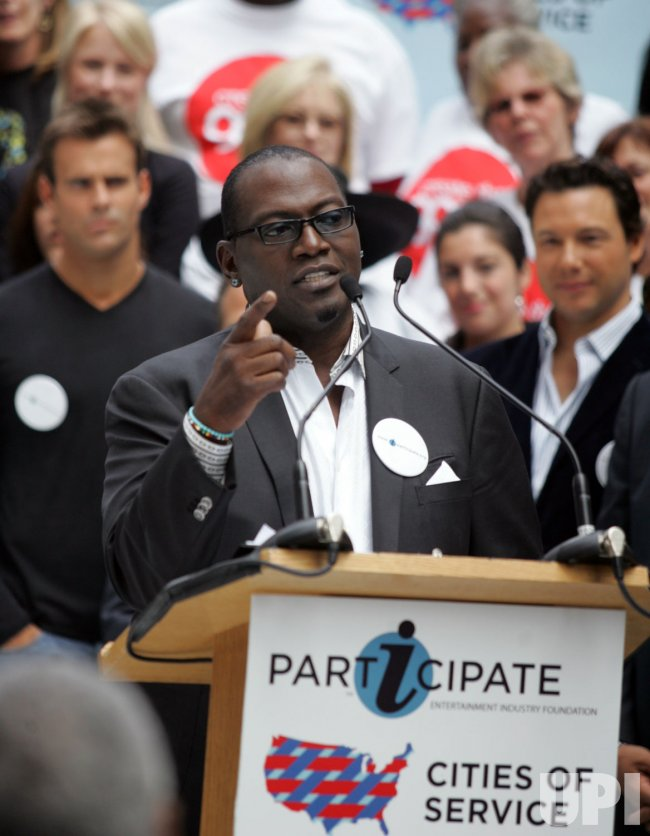 Randy Jackson attends the Entertainment Industry Foundation Press Conference in New York