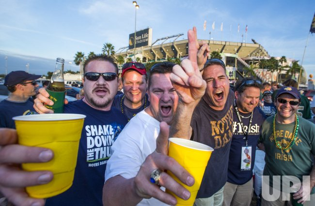 Image result for notre dame fans drinking