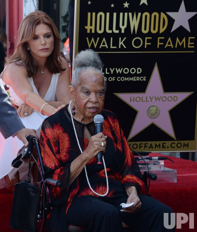 Roma Downey honored with star on Hollywood Walk of Fame in Los Angeles
