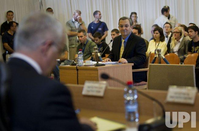 Ehud Barak Testifies at Inquiry in Jerusalem