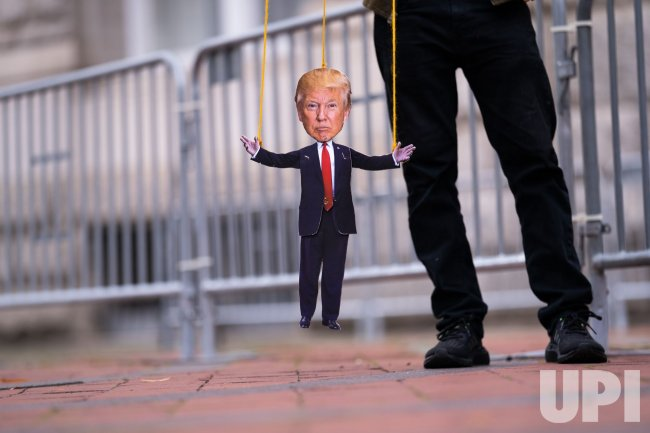 Protest against President Trump at the Trump Tower in Washington, DC