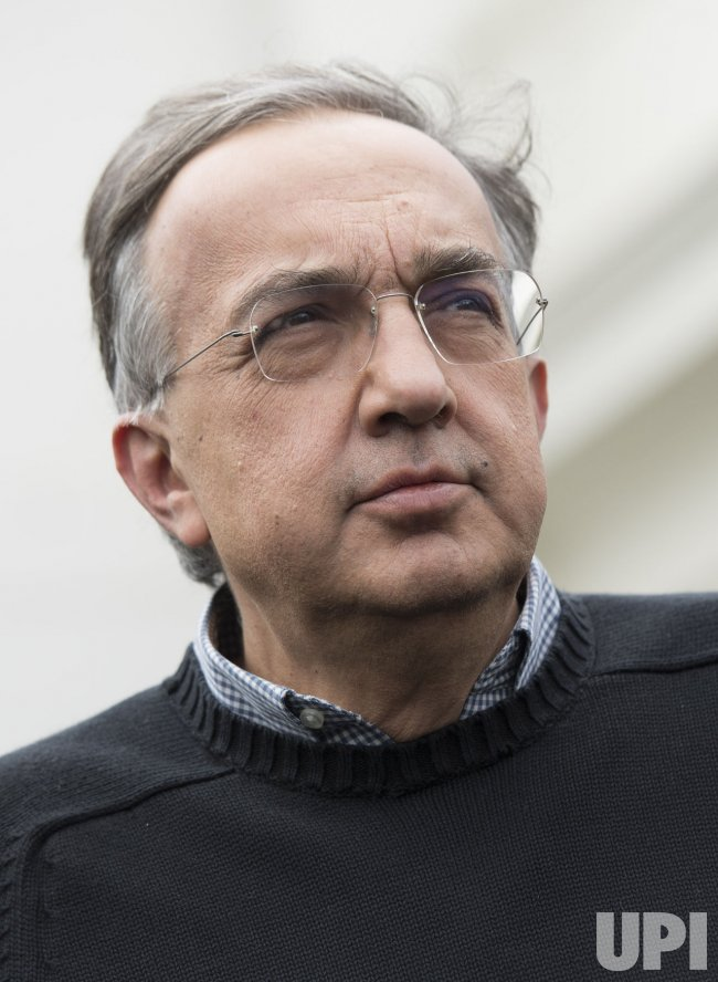 Sergio Marchionne, CEO of Fiat Chrysler, at the White House