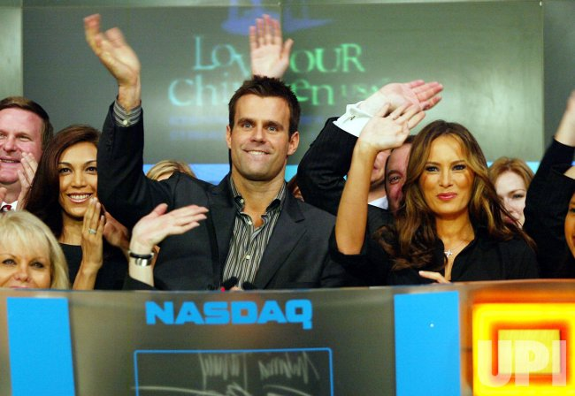 Cameron Mathison and Melania Trump Ring Closing Bell at NASDAQ in New York