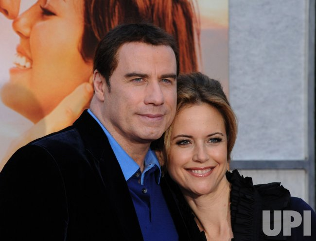 "Kelly Preston and John Travolta attend the ""The Last Song"" premiere in Los Angeles"