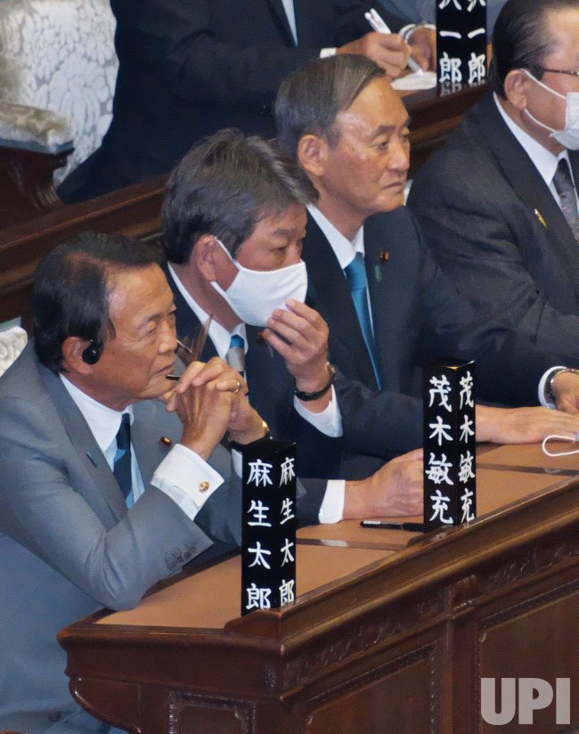 Newly elected Japan's Prime Minister Yoshihide Suga