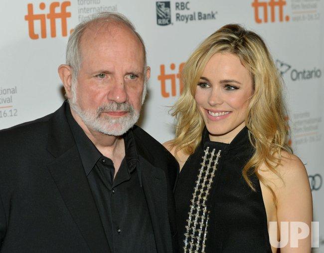Rachel McAdams and Brian de Palma attend 'Passion' premiere at the Toronto International Film Festival