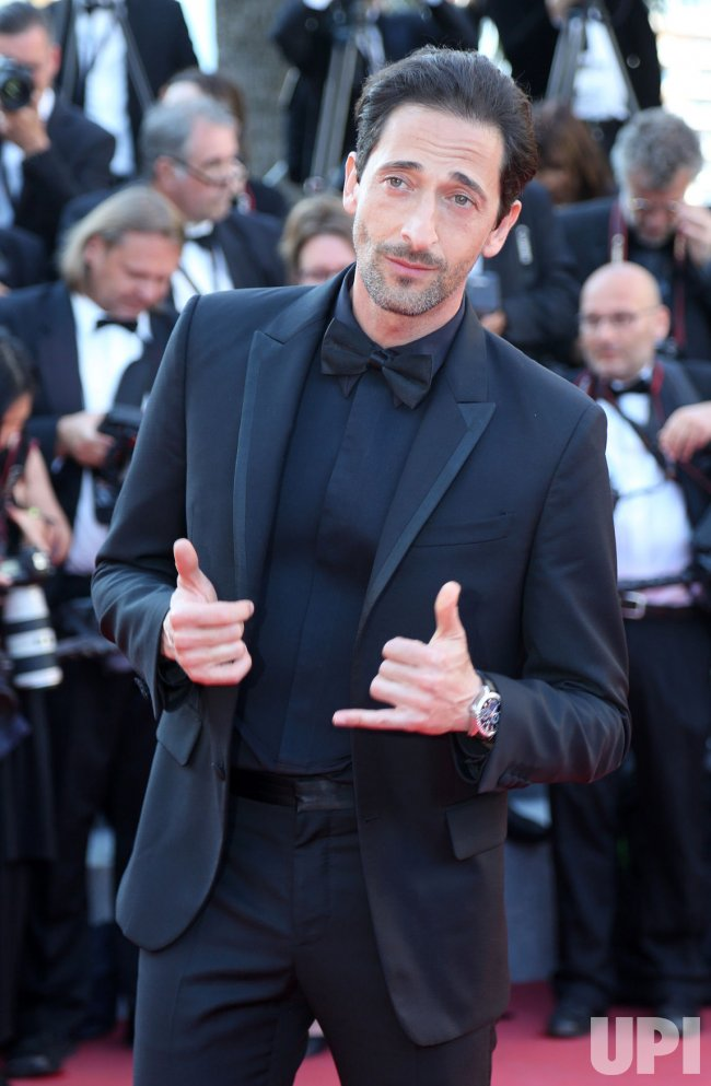 Adrien Brody attends the Cannes Film Festival