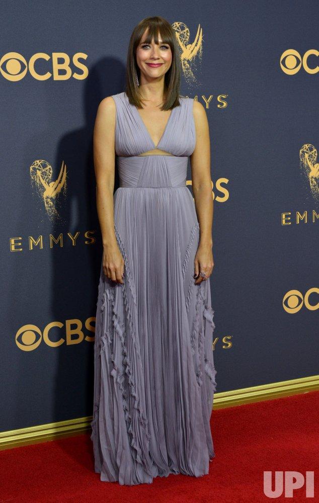 Rashida Jones attends the 69th annual Primetime Emmy Awards in Los Angeles