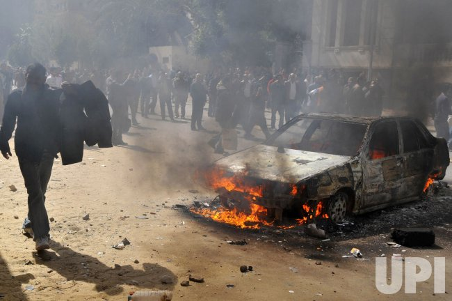 Egyptian Police Officers Protest in Egypt