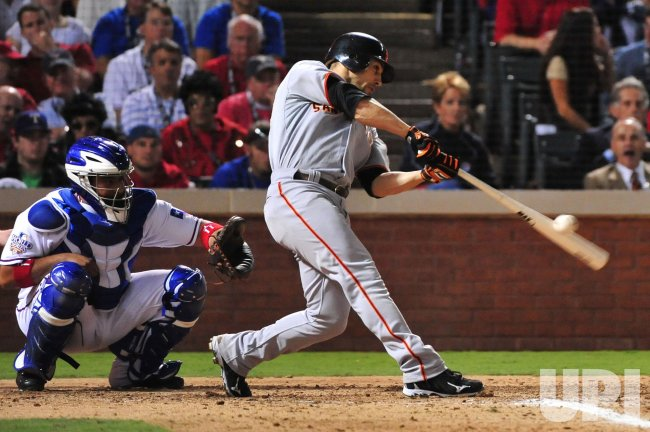 Giants' Andres Torres hits a homerun in game 3 of the World Series in Texas