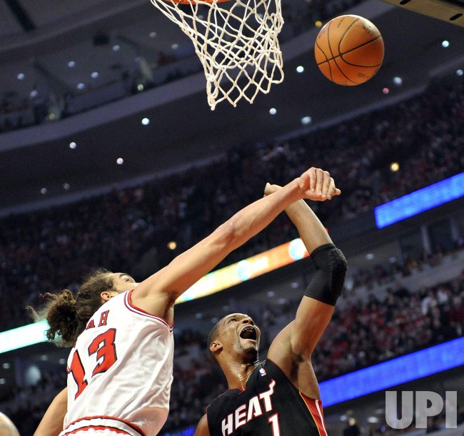 Bulls' Noah Heat's Bosh in Chicago