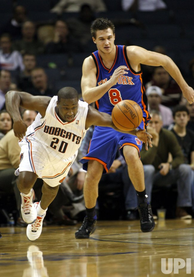 Charlotte Bobcats guard Raymond Felton in action against the New York Knicks