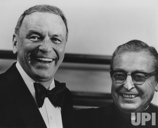 Frank Sinatra with Fr. Walter E. Schmidt