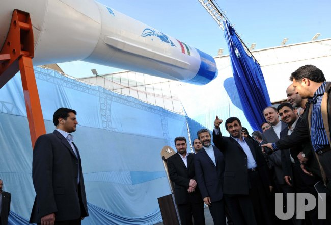 President Ahmadinejad during unveil ceremony of rocket