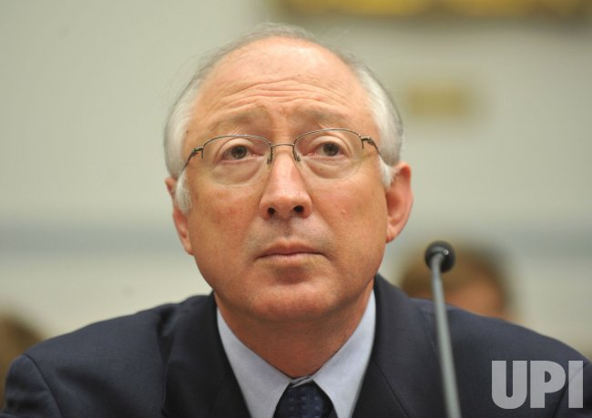 Interior Secretary Ken Salazar testifies on offshore oil drilling in Washington