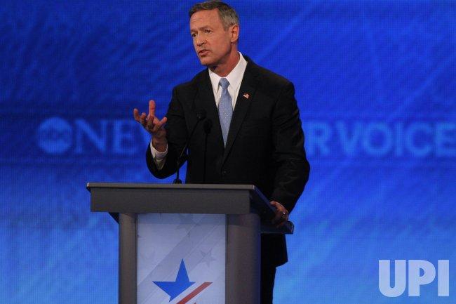 Martin O'Malley at Democratic Presidential Debate in New Hampshire