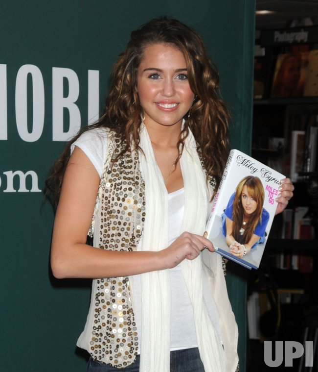 Miley Cyrus book promotion tour in New York