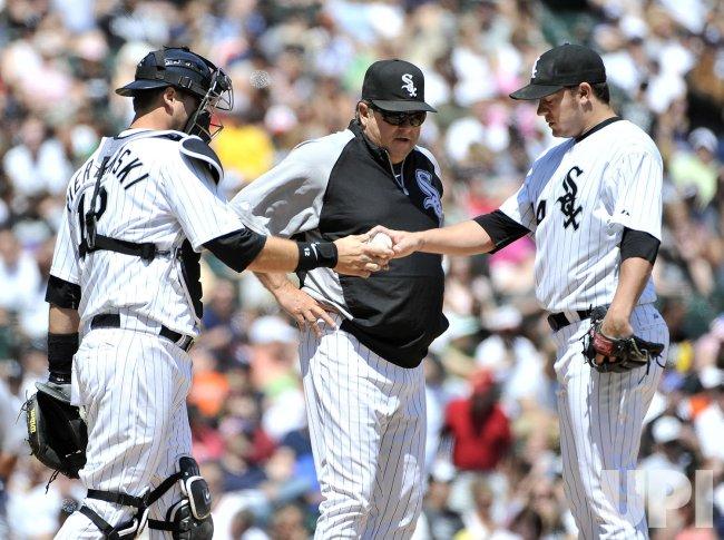 White Sox Pierzynski, Cooper, Peavy talk against Tigers in Chicago