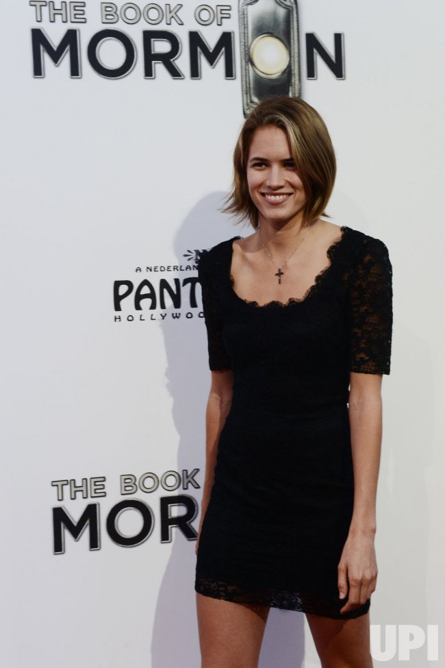 "Cody Horn attends ""The Book of Mormon"" premiere in Los Angeles"