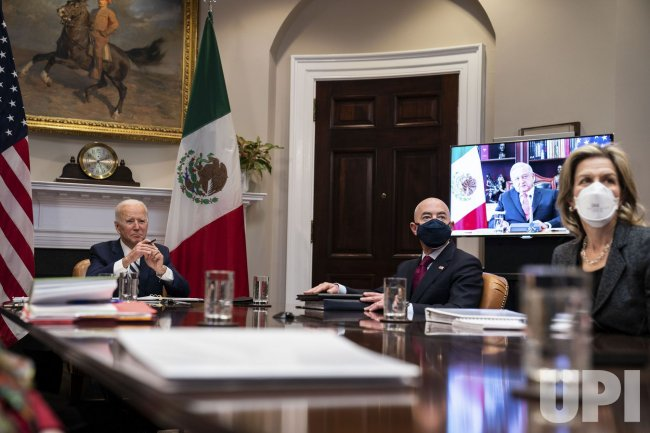 President Biden Has Virtual Meeting with Mexican President
