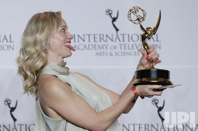 Anna Schudt at the 46th International Emmy's