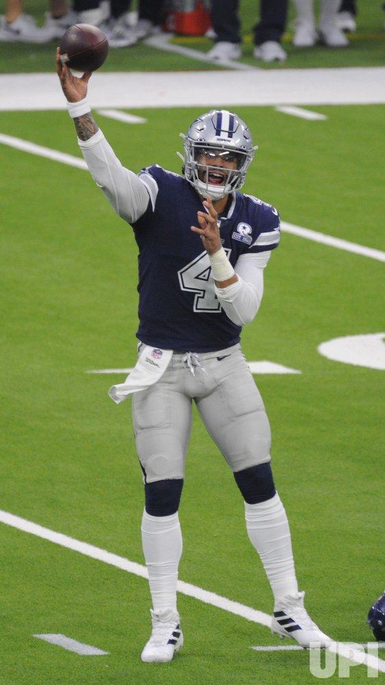 Cowboys' Dak Prescott Throws A Pass