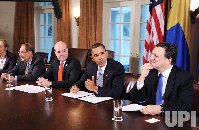 President Obama Attends the U.S.-European Union Summit
