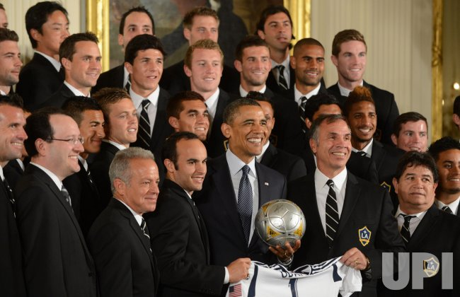 Obama Hosts and Los Angeles Kings and Galaxy Championship Teams at White House