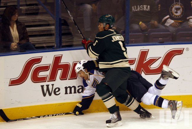 St. Louis Blues Andy McDonald and Minnesota Wild Kim Johnsson