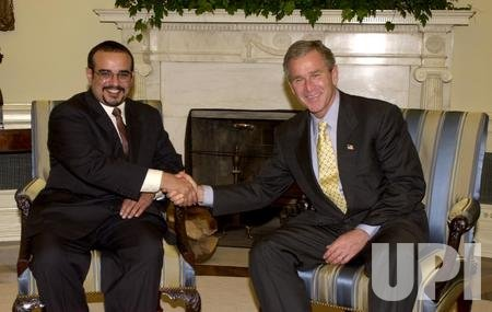 Crown Prince of Bahrain meets with Bush