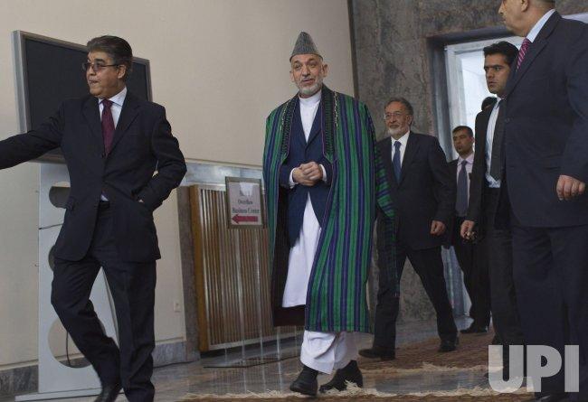 Afghan President Hamid Karzai in Kabul