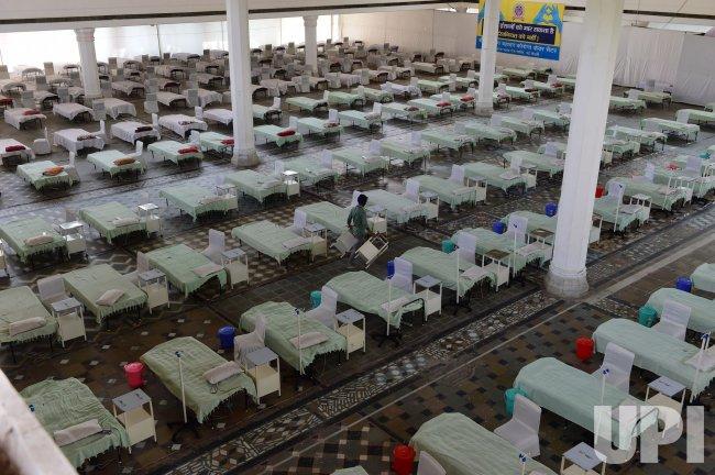 COVID-19 Care Center in a Sikh Temple in Delhi, India