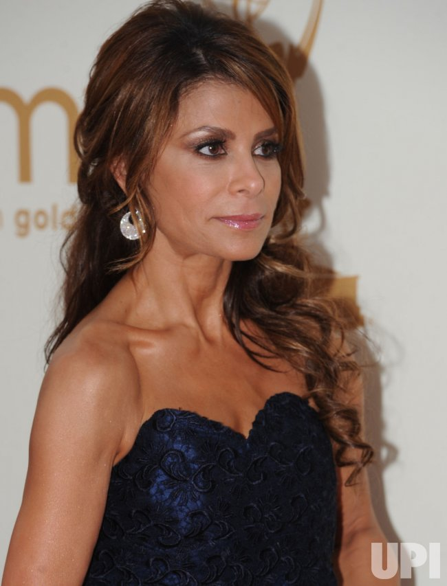 Paula Abdul arrives at the Primetime Emmy Awards in Los Angeles