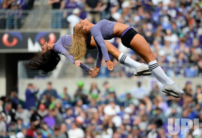 Baltimore Ravens cheerleaders perform