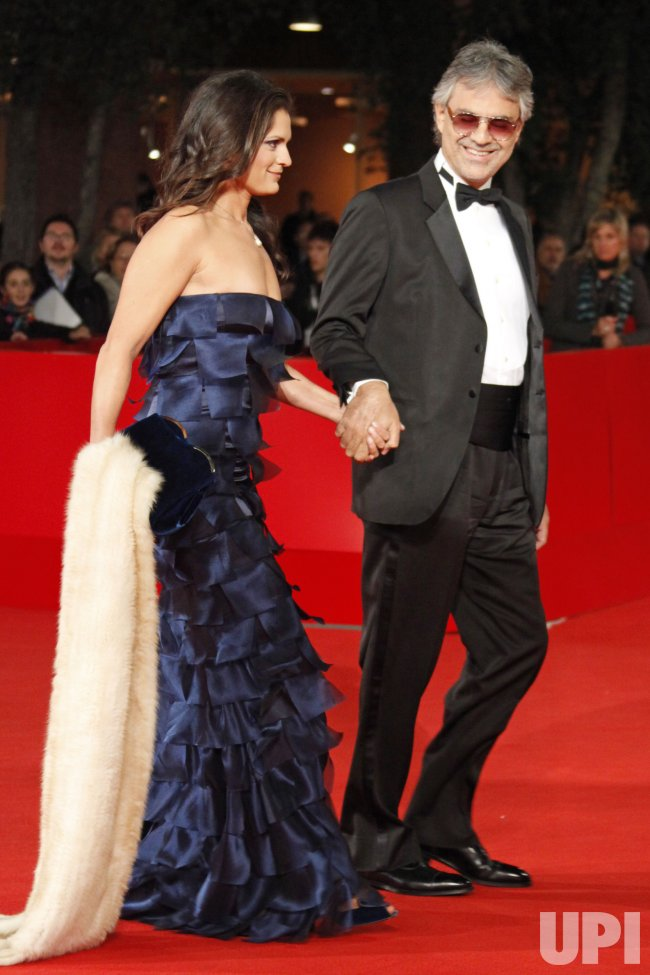 Andrea Bocelli arrives at the Rome International Film Festival