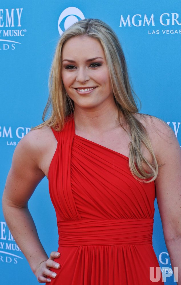 Olympian Lindsey Vonn arrives at the ACM Awards in Las Vegas