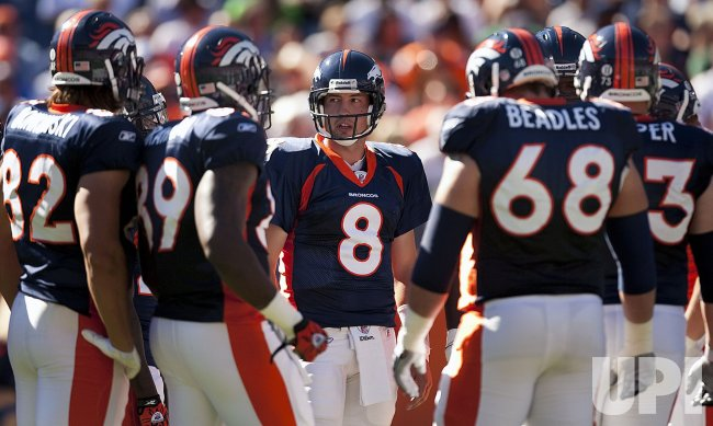 Broncos QB Orton Looks Over His Team in Denver