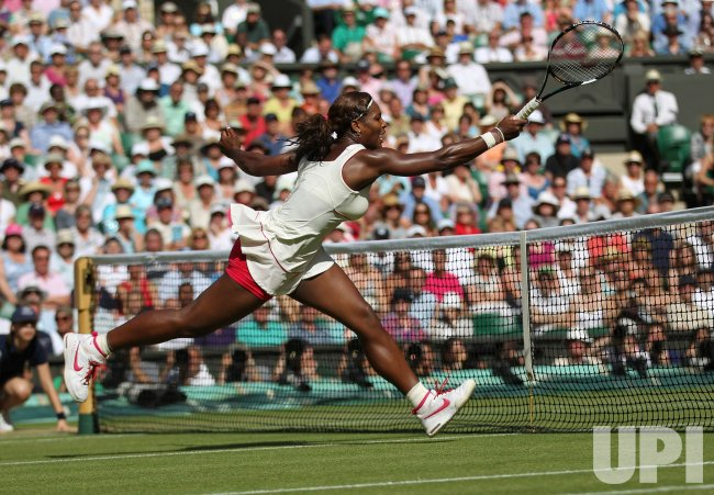 Serena Williams in full stride at the Wimbledon Championships