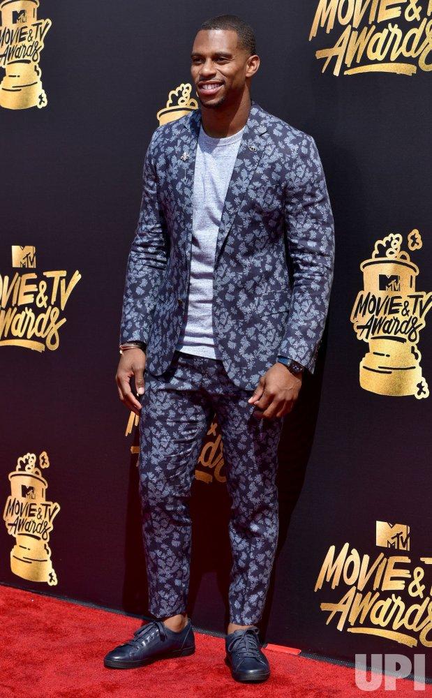 Victor Cruz attends the 2017 MTV Movie & TV Awards in Los Angeles
