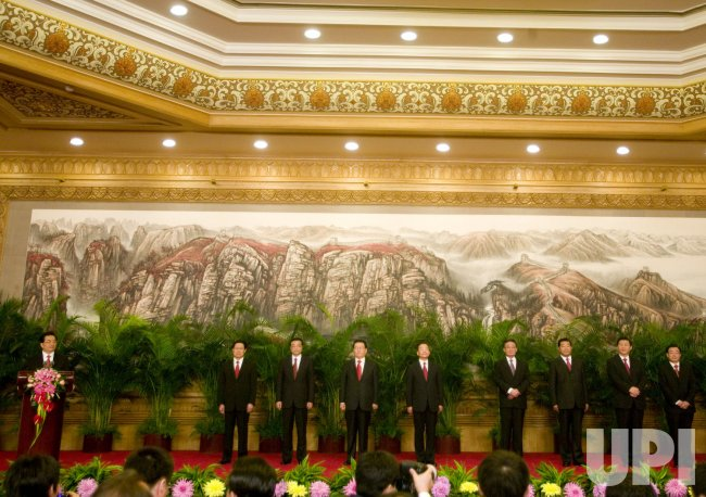 China's new Politburo Standing Committee Members