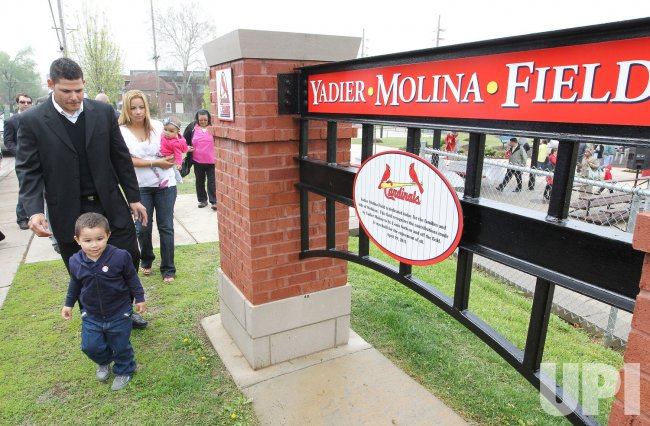 Dedication of Yadier Molina Field in Wellston, Missouri